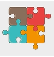 Puzzle game design vector image vector image
