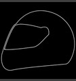 racing helmet the white path icon vector image vector image