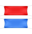 Red and Blue Blank Empty Horizontal Banners vector image vector image