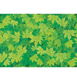 seamless background of green leaves vector image vector image