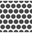 seamless pattern from dollar coin vector image