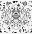 seamless pattern with scary devil snake skull vector image