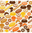 Seamless retro pattern with fresh bread vector image vector image