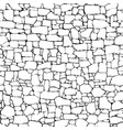 seamless wall from stones of different sizes vector image vector image