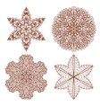 Set of four hand drawn ornaments vector image vector image