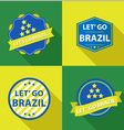 Set of vintage Brazil soccer champions labels vector image