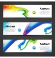 set polygonal banners backgrounds vector image