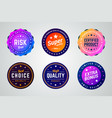 set premium colorful gradient badges vector image