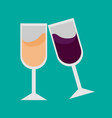 simple double drink glassses vector image vector image