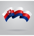 Slovak waving Flag vector image vector image