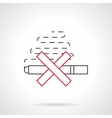 Smoking ban flat line icon vector image