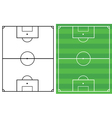 soccer fields vector image vector image
