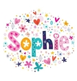 Sophie female name decorative lettering type vector image vector image