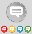 speech bubble Chat think icon sign Symbol on five vector image