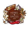 spice and herb store emblem vector image vector image
