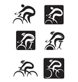 Spinning cycling icons vector image vector image