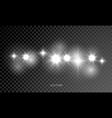 star light shine glitter sparkles lens flare glow vector image vector image