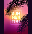 summer tropical background with palms sky vector image vector image