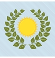 sun icon design vector image