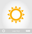 Sun outline icon summer vacation vector image