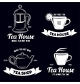 Tea related labels and quotes setDesign elements vector image vector image