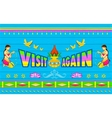 Visit Again Poster vector image vector image