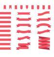 ribbon banners set vector image