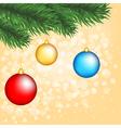 Christmas tree with balls vector image