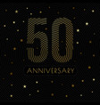 50 anniversary emblem celebration label dark color vector image vector image