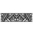 abstract tribal art tattoo border vector image vector image