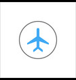 Airplane mode solid icon mobile sign