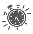 alarm clock glyph icon time and clock watch sign vector image vector image