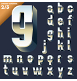 alphabet of simple 3d letters vector image vector image