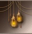 arabic shining lamps vector image vector image