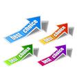 arrow sticker vector image vector image