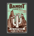 bandit country t shirt design template vector image vector image