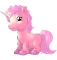 beautiful pink unicorn vector image vector image
