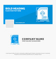 blue business logo template for ad advertisement vector image