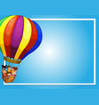 border template with children on balloon