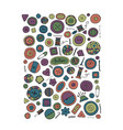 buttons collection sketch for your design vector image vector image