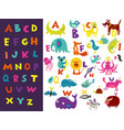 children alphabet bright set vector image vector image
