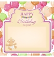 Childrens congratulatory background with a vector image vector image