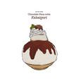 chocolate kakigori - japanese shaved ice dessert vector image vector image