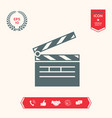 clapperboard icon symbol vector image