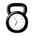 conceptual watch for gym stylized like a weight vector image vector image