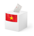 election in vietnam ballot box with ticked vector image