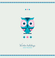 ethnic style winter owl bird with ornate elements vector image vector image