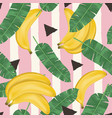 fashionable seamless pattern with bananas vector image vector image