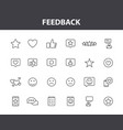 feedback and review web icons in line style star vector image vector image