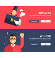 Flat Design Concept for Web Banners Business vector image